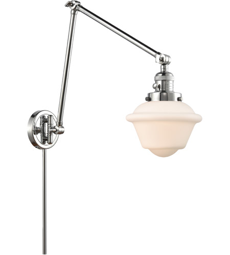 Innovations Lighting 238-PC-G531 Small Oxford 30 inch 60.00 watt Polished Chrome Swing Arm Wall Light, Franklin Restoration photo thumbnail