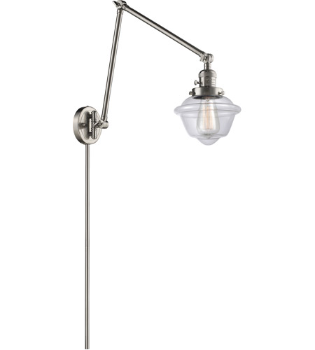 Innovations Lighting 238-SN-G532 Small Oxford 30 inch 60.00 watt Satin Nickel Swing Arm Wall Light, Franklin Restoration photo thumbnail