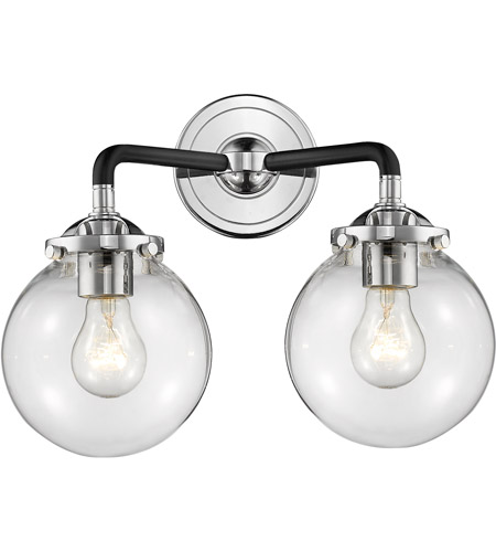 Innovations Lighting 284 2w Bpn G202 Baldwin 2 Light 14 Inch Black Polished Nickel Sconce Wall Nouveau