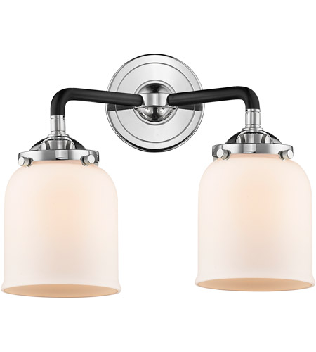 Innovations Lighting 284-2W-BPN-G51 Small Bell 2 Light 13 inch Black Polished Nickel Bath Vanity Light Wall Light, Nouveau photo