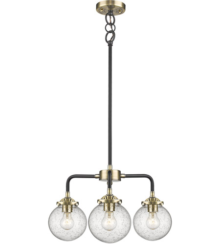 Innovations Lighting 284 3ch Bab G204 Baldwin 3 Light 20 Inch Black Antique Br Chandelier Ceiling Nouveau