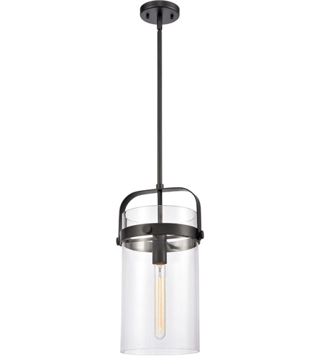 Innovations Lighting 413 1s Bk 8cl Pilaster 1 Light 9 Inch Matte Black Pendant Ceiling Light Restoration