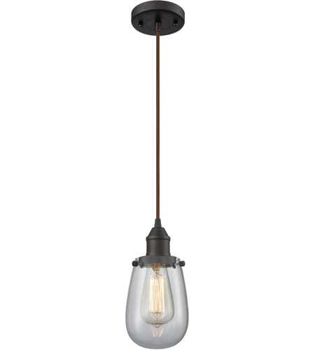Innovations Lighting 466-1P-OB-CL Sinclair 1 Light 5 inch Oiled Rubbed Bronze Mini Pendant Ceiling Light photo