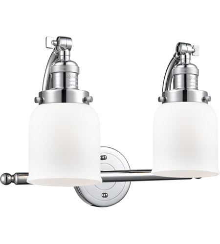 Innovations Lighting 515-2W-PC-G51 Small Bell 2 Light 18 inch Polished Chrome Bath Vanity Light Wall Light, Franklin Restoration photo