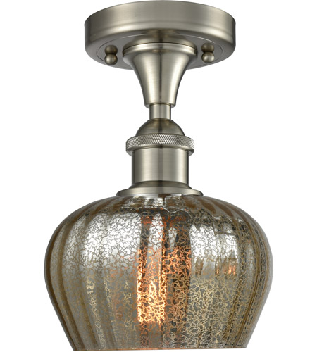 pretty nice a6e15 46160 Innovations Lighting 516-1C-SN-G96-LED Fenton LED 7 inch Brushed Satin  Nickel Semi-Flush Mount Ceiling Light
