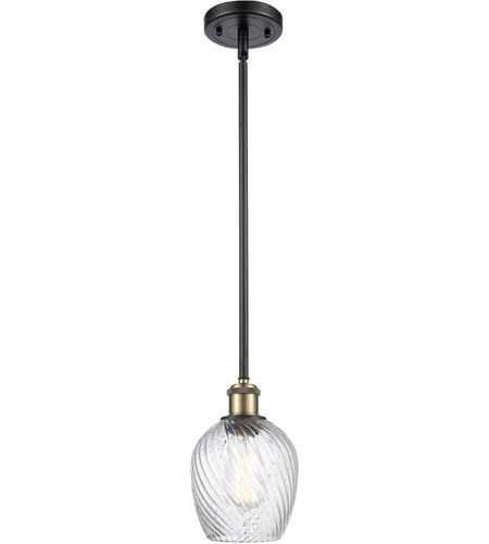 Innovations Lighting 516-1S-BAB-G292-LED Salina LED 5 inch Black Antique Brass Pendant Ceiling Light, Ballston photo thumbnail