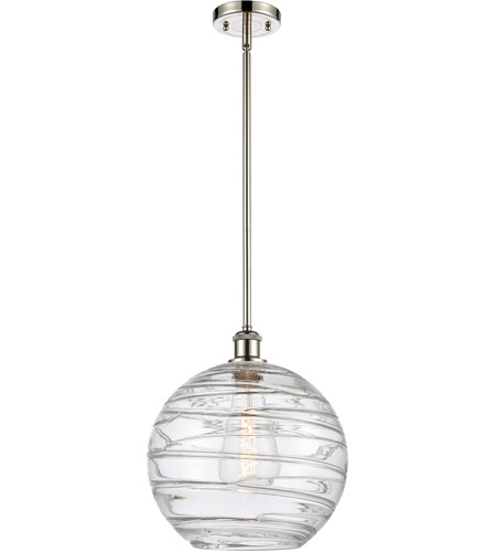 Innovations Lighting 516-1S-PN-G1213-12-LED X-Large Deco Swirl LED 12 inch Polished Nickel Pendant Ceiling Light, Ballston photo thumbnail