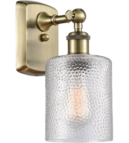 Innovations Lighting 516-1W-AB-G112 Cobbleskill 1 Light 5 inch Antique Brass Sconce Wall Light, Ballston photo thumbnail