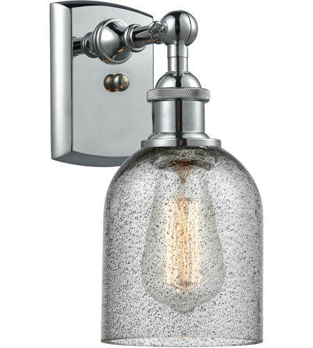 Polished Chrome Glass Caledonia Wall Sconces