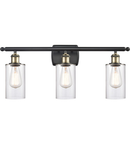 Innovations Lighting 516-3W-BAB-G802 Clymer 3 Light 26 inch Black Antique Brass Bath Vanity Light Wall Light, Ballston photo thumbnail