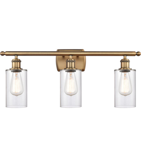 Innovations Lighting 516-3W-BB-G802 Clymer 3 Light 26 inch Brushed Brass Bath Vanity Light Wall Light, Ballston photo thumbnail