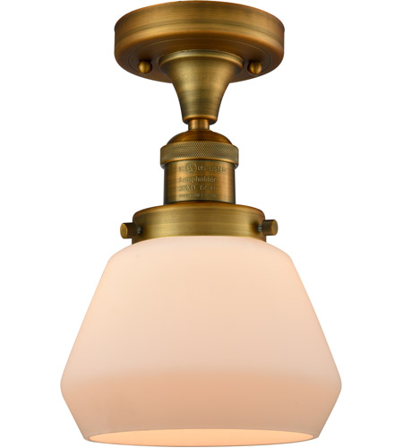 Innovations Lighting Brushed Brass Semi-Flush Mounts