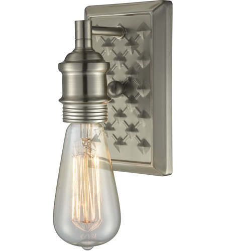 Innovations Lighting 563-1W-BN Bare Bulb 1 Light 5 inch Brushed Satin Nickel Wall Sconce Wall Light photo