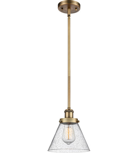 Innovations Lighting 916-1S-BB-G44-LED Large Cone LED 8 inch Brushed Brass Pendant Ceiling Light photo thumbnail