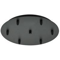 Innovations Lighting 116-BK Custom Cord Matte Black Multi Port Canopy, Round