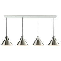 Innovations Lighting 124W-10GY-2H-SN-M10-SN Briarcliff 4 Light 48 inch White Linear Pendant Ceiling Light Winchester