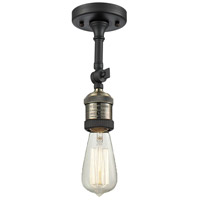 Innovations Lighting 200F-BAB Bare Bulb 1 Light 5 inch Black Antique Brass Semi-Flush Mount Ceiling Light