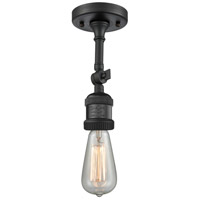 Innovations Lighting 200F-BK Bare Bulb 1 Light 5 inch Matte Black Semi-Flush Mount Ceiling Light