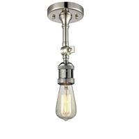 Innovations Lighting 200F-PN Bare Bulb 1 Light 5 inch Polished Nickel Semi-Flush Mount Ceiling Light, Franklin Restoration