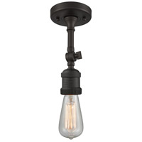 Innovations Lighting 200NH-F-OB-LED Bare Bulb LED 5 inch Oil Rubbed Bronze Semi-Flush Mount Ceiling Light, Franklin Restoration