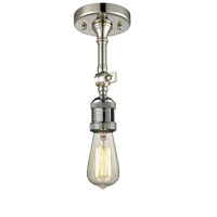 Innovations Lighting 200NH-F-PN-LED Bare Bulb LED 5 inch Polished Nickel Semi-Flush Mount Ceiling Light