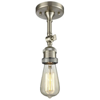 Innovations Lighting 200NH-F-SN Bare Bulb 1 Light 5 inch Brushed Satin Nickel Semi-Flush Mount Ceiling Light Franklin Restoration
