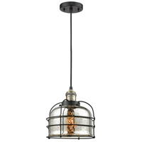 Innovations Lighting 201C-BAB-G78-CE-LED Large Bell Cage LED 9 inch Black Antique Brass Mini Pendant Ceiling Light Franklin Restoration