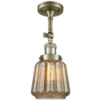 Chatham LED 6 inch Antique Brass Semi-Flush Mount Ceiling Light