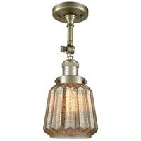 Innovations Lighting 201F-AB-G146-LED Chatham LED 6 inch Antique Brass Semi-Flush Mount Ceiling Light