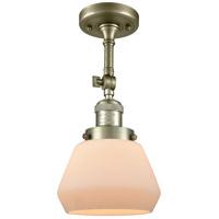 Innovations Lighting 201F-AB-G171-LED Fulton LED 7 inch Antique Brass Semi-Flush Mount Ceiling Light