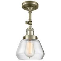 Innovations Lighting 201F-AB-G172-LED Fulton LED 7 inch Antique Brass Semi-Flush Mount Ceiling Light