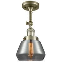 Innovations Lighting 201F-AB-G173-LED Fulton LED 7 inch Antique Brass Semi-Flush Mount Ceiling Light