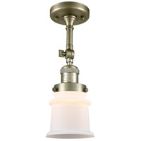 Innovations Lighting 201F-AB-G181S Small Canton 1 Light 6 inch Antique Brass Semi-Flush Mount Ceiling Light Franklin Restoration