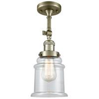 Innovations Lighting 201F-AB-G182-LED Canton LED 6 inch Antique Brass Semi-Flush Mount Ceiling Light