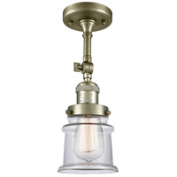 Innovations Lighting 201F-AB-G182S-LED Small Canton LED 6 inch Antique Brass Semi-Flush Mount Ceiling Light Franklin Restoration