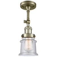 Innovations Lighting 201F-AB-G184S-LED Small Canton LED 6 inch Antique Brass Semi-Flush Mount Ceiling Light Franklin Restoration