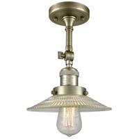Innovations Lighting 201F-AB-G2-LED Halophane LED 9 inch Antique Brass Semi-Flush Mount Ceiling Light