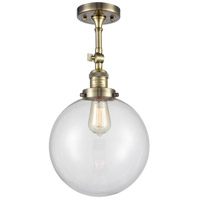Innovations Lighting 201F-AB-G202-10-LED X-Large Beacon LED 10 inch Antique Brass Semi-Flush Mount Ceiling Light Franklin Restoration