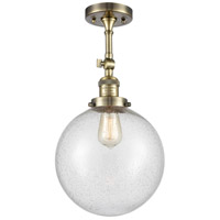 Innovations Lighting 201F-AB-G204-10-LED X-Large Beacon LED 10 inch Antique Brass Semi-Flush Mount Ceiling Light Franklin Restoration