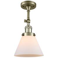Innovations Lighting 201F-AB-G41-LED Large Cone LED 8 inch Antique Brass Semi-Flush Mount Ceiling Light