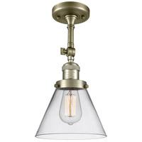 Innovations Lighting 201F-AB-G42-LED Large Cone LED 8 inch Antique Brass Semi-Flush Mount Ceiling Light