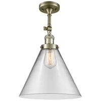 Innovations Lighting 201F-AB-G42-L X-Large Cone 1 Light 12 inch Antique Brass Semi-Flush Mount Ceiling Light Franklin Restoration