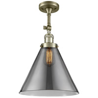 Innovations Lighting 201F-AB-G43-L-LED X-Large Cone LED 12 inch Antique Brass Semi-Flush Mount Ceiling Light Franklin Restoration