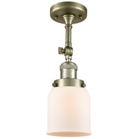 Innovations Lighting 201F-AB-G51 Small Bell 1 Light 5 inch Antique Brass Semi-Flush Mount Ceiling Light