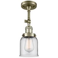 Innovations Lighting 201F-AB-G52-LED Small Bell LED 5 inch Antique Brass Semi-Flush Mount Ceiling Light