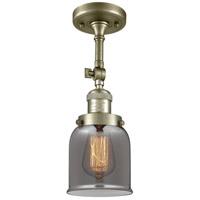 Innovations Lighting 201F-AB-G53-LED Small Bell LED 5 inch Antique Brass Semi-Flush Mount Ceiling Light