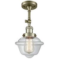 Innovations Lighting 201F-AB-G532-LED Small Oxford LED 8 inch Antique Brass Semi-Flush Mount Ceiling Light