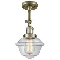 Innovations Lighting 201F-AB-G532 Small Oxford 1 Light 8 inch Antique Brass Semi-Flush Mount Ceiling Light