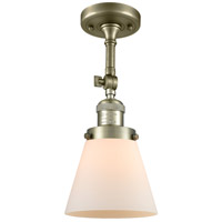 Innovations Lighting 201F-AB-G61-LED Small Cone LED 6 inch Antique Brass Semi-Flush Mount Ceiling Light