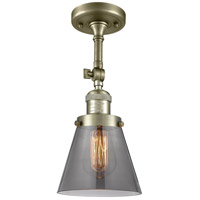 Innovations Lighting 201F-AB-G63 Small Cone 1 Light 6 inch Antique Brass Semi-Flush Mount Ceiling Light